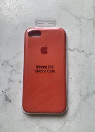 Роскошный силиконовый чехол на айфон для iphone 7/8, внутри мягкая микрофибра