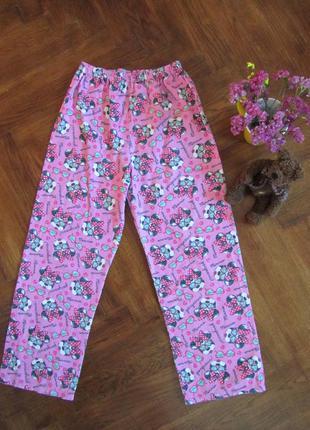 Теплые пижамные штаны disney (на байке) 9 - 10 лет. рост 140 см