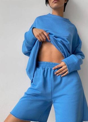 Базовый спортивный костюм двойка😍❤(худи+шорты)