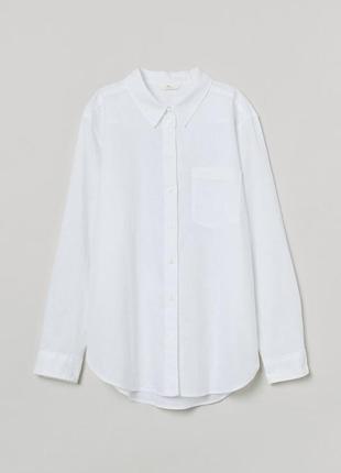 Льняная блуза h&m-новая коллекция 2021