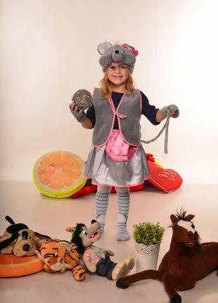 Детский карнавальный костюм мышка для девочки