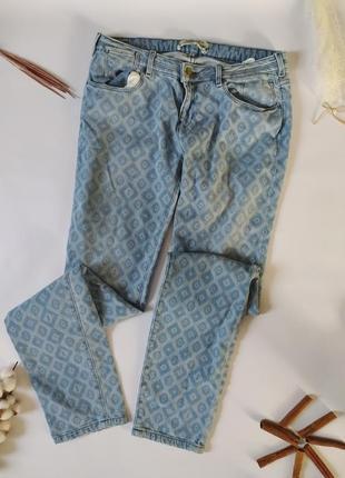 Джинси, джинсы этно потертости заводские