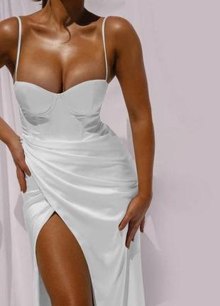 💃💃💃 summer 2021 💃💃💃 снова в наличии  ❤️ крутое вечернее платье с имитацией запаха 🥰❤️2 фото