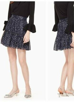 Kate spade дизайнерская юбка, шелк, новая из сша