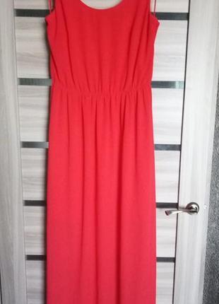 Шикарное платье миди, красное платье, сарафан