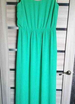 Шикарное платье миди, зеленое платье, сарафан