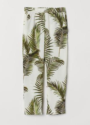 H&m штаны бриджи брюки  с золотыми  листьями
