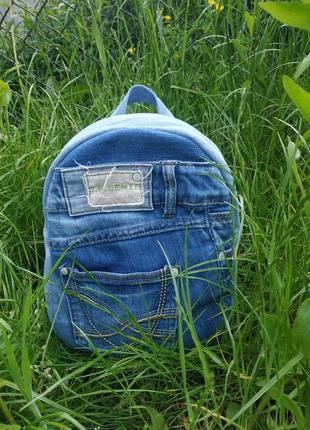 Джинсовий рюкзак