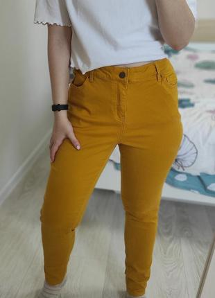 Насыщенные горчичные джинсы tu