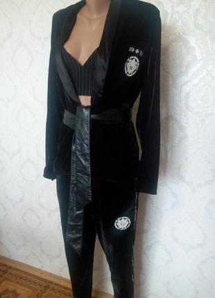 Распродажа!брендовый велюровый костюм philipp plein