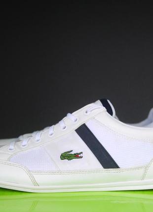 Білі кросівки lacoste оригінал