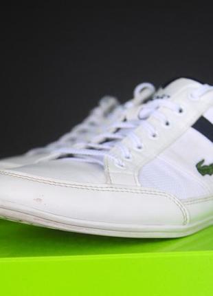 Білі кросівки lacoste оригінал7 фото