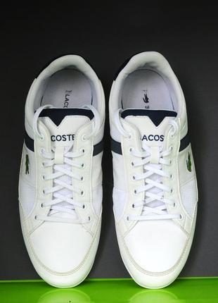 Білі кросівки lacoste оригінал9 фото