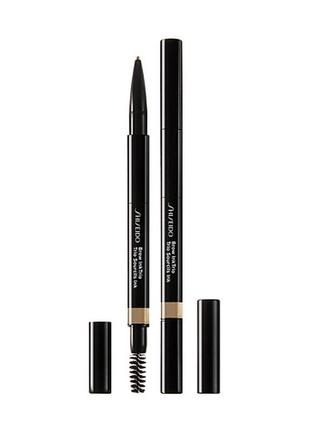 Моделирующий карандаш для бровей shiseido 3 в 1 brow ink trio, цвет 02 taupe