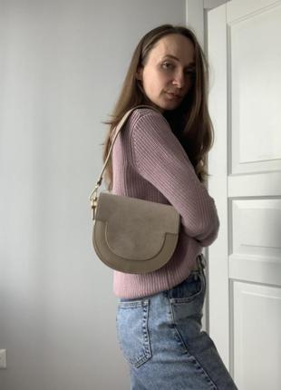 Итальянская сумка из натуральной кожи и замши4 фото