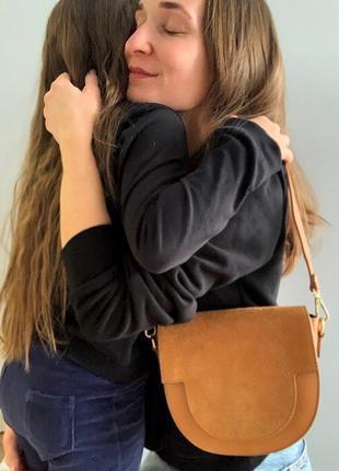 Итальянская сумка из натуральной кожи и замши3 фото