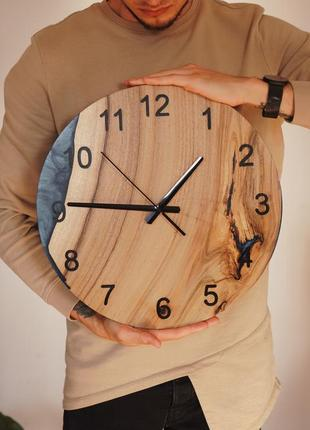 Годинник з епоксидної смоли /  hand made