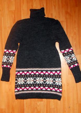 Теплая вязаная туника, длинный свитер, платье claretta knitwear (турция)
