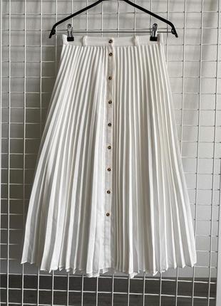 Юбка плиссе stradivarius, размер s
