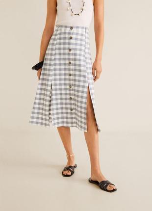 Миди-юбка со шлицей mango оригинал размер l