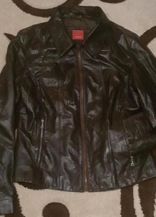 Фирменная,кожаная,оригинальная курточка esprit