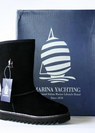 Зимние сапоги угги marina yachting натуральная замша шерсть 35-40