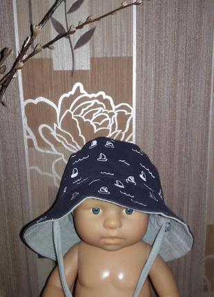 Панама шляпка детская из хлопка
