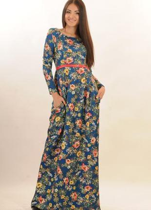 Платье макси длинное в пол