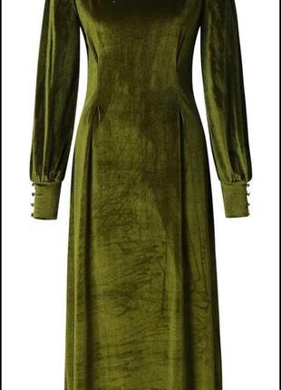 Нереальное бархатное платье с пышными рукавами