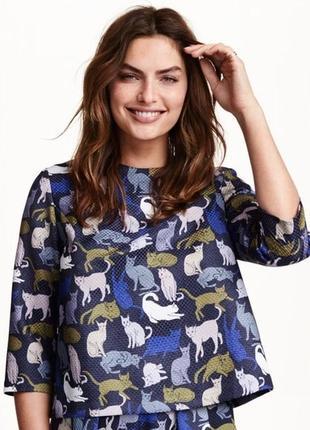 Блуза с котами h&m