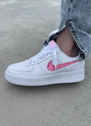 Шикарные женские кроссовки nike air force 1 love наложка