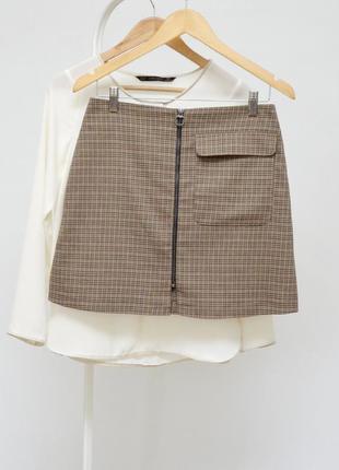 Актуальная юбка трапеция с замочком