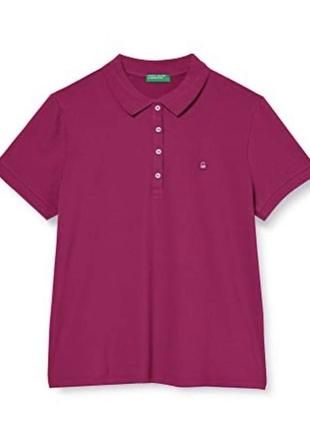 Базовая футболка поло цвета фуксии benetton 💘