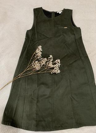 Замшевое платье ostin