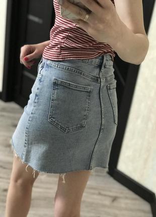 Юбка джинсовая в стиле zara bershka levi's