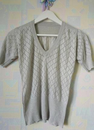 Футболка блузка с люрексовой ниткой