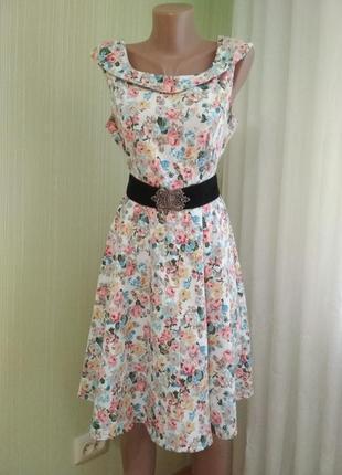 Платье в винтажном стиле, пояс в подарок