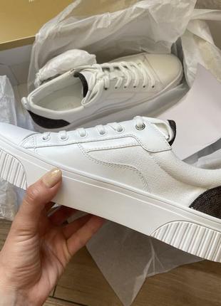 Michael kors белые кроссовки кеды кожа оригинал корс3 фото