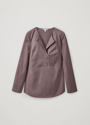 Блузка-рубашка из коттона cos японский крой