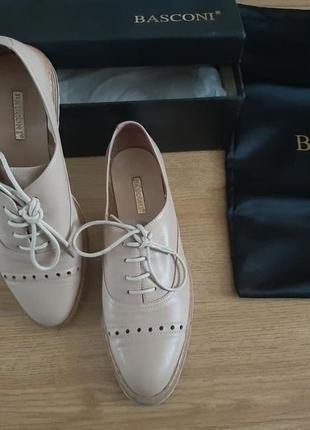 Женские кожаные туфли basconi (идеальное состояние)