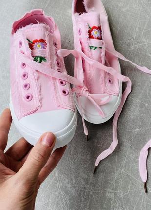 Розовые кеты текстиль/наложка 1004 фото