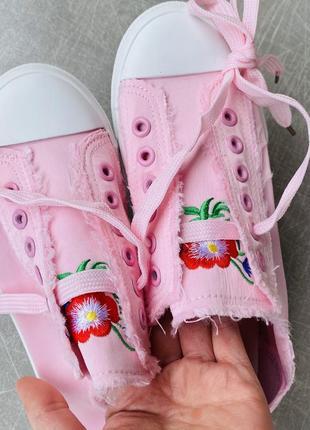 Розовые кеты текстиль/наложка 1006 фото
