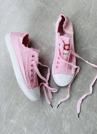 Розовые кеты текстиль/наложка 100