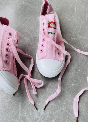 Розовые кеты текстиль/наложка 1003 фото