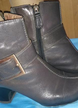 Кожаные ботинки clarks р 37,-5-38 (24,5 см)