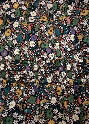 Платье чёрное мелкий цветочек шифон принт