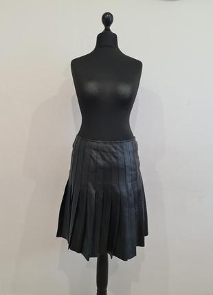 Кожаная черная юбка madeleine