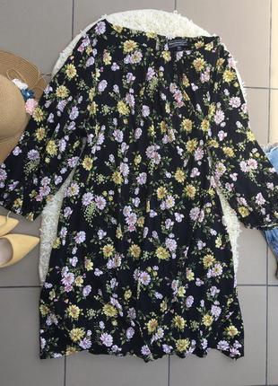 Платье большой размер батал большого размера миди цветочное плаття туника сарафан сукня