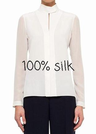 100% шелк. шелковая блуза от akris