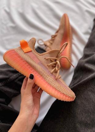 Женские кроссовки adidas yeezy 350 v2 orange / оранжевый2 фото